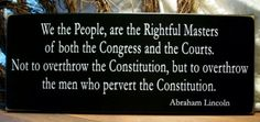 We the people are the rightful masters...