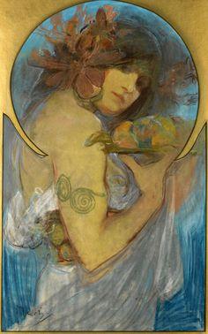 "silenceforthesoul: ""Alfons Mucha (1860-1939) """