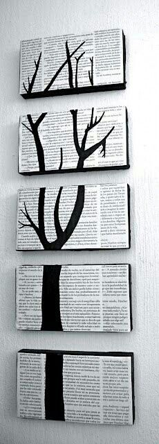 Wall art...with wasted newspapers