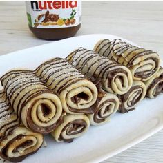 fashion, nutella, and beautiful image Crepes Nutella, Nutella Chocolate, Snack Recipes, Dessert Recipes, Snacks, Dessert Ideas, Food Porn, Tumblr Food, Food Goals