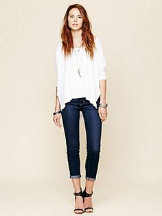 Free People Rolled Crop Skinny, $68.00
