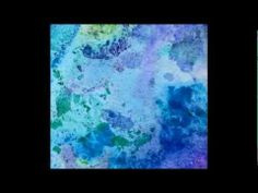 éclatement de couleur avec eau, alcool et encre
