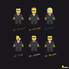 Reservoir DogsCreated by Donnie Illustrations Reservoir Dogs, Lego Toys, Lego Worlds, Video Game Art, Storytelling, Original Artwork, Pop Culture, Shirt Designs, Geek Stuff