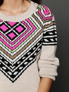 modern fair isle sweater, by Mara Hoffman