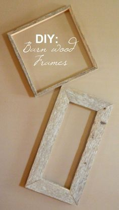 DIY pictures frames from wood scraps! have a wall of only cool animal and nature pics in these..?