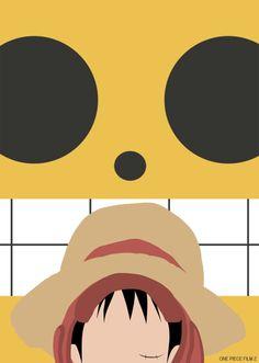 One Piece Film Z Minimalist Poster - Luffy by MinimallyOnePiece.deviantart.com on @deviantART