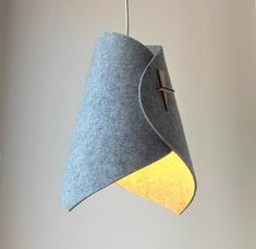 I call this one SwoopFelt! SwoopFelt is made from felt for its softness and noise absorbing powers! The shape is still kept simple and petite just like the Swoop. The felt is sources from a manufacturer that specifically uses only water, wool, and natural Wood Pendant Light, Modern Pendant Light, Pendant Lamp, Pendant Lights, Wood Floor Lamp, Wood Lamps, Diy Lustre, Diy Luminaire, Floor Lamp Shades