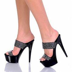 Calçados+Femininos+-+Sandálias+-+Saltos+/+Plataforma+/+Chinelo+-+Salto+Agulha+-+Preto+-+Courino+-+Festas+&+Noite+–+EUR+€+53.89