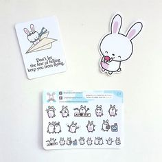 These are just the cutest bunnies EVER!!!  @rainbowbunnyco sent us all these super cute bunny goodies to include in the swag bags at the @riversideplannergirls #sailormoon meetup! Who else loves cute bunnies?      #riversideplannergirls #planner #plannercommunity #plannergirl #rainbowbunnyco #diecuts #plannerstickers #bunnies