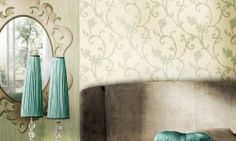 Tapet vinil verde crem floral 7905 Cristina Masi Lei-2 Flooring, Abstract, Interior, Floral, Collection, Design, Christians, Summary, Indoor