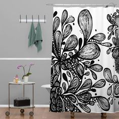 You'll love the Julia Da Rocha Wild Leaves Shower Curtain at AllModern - With Great Deals on modern Bath Linens products and Free Shipping on most stuff, even the big stuff.
