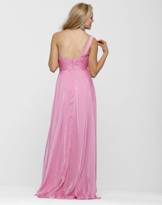 Clarisse 2013 Carnation Pink Long One Shoulder Sweetheart Beaded Flowing A-Line Prom Dress 2120 | Promgirl.net