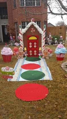 Life size gingerbread house a fun winter activity for kids using a my gingerbread house giant candy and cupcake decorations solutioingenieria Choice Image