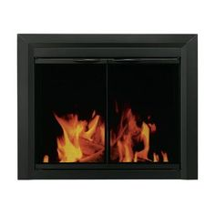 Pleasant Hearth Carlisle Cabinet Style Fireplace Screen and Smoked Glass Door Size: Medium