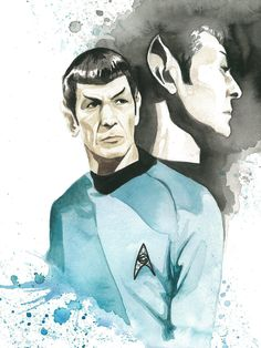 Star Trek Watercolor Print  Spock by JAWart on Etsy, $12.00