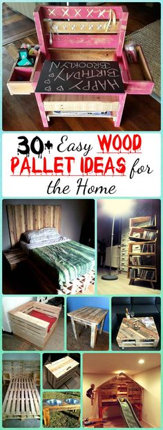 30-Easy-Wood-Pallet-Ideas-for-the-home.jpg (760×2000)