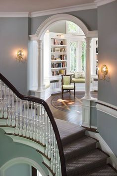 I Love Unique Home Architecture. Simply stunning architecture engineering full of charisma nature love. The works of architecture shows the harmony within. Escalier Design, House Goals, Design Case, My New Room, My Dream Home, Dream House Plans, Future House, Beautiful Homes, Beautiful Library