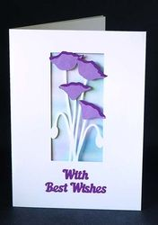 Flower Best Wishes Card on Craftsuprint - View Now!