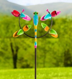 Our Dragonfly Jubilee Wind Spinner Brings Flying Color To Your Yard. This Garden  Accent Is