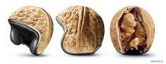 Casco Nuez- cascos originales para la moto