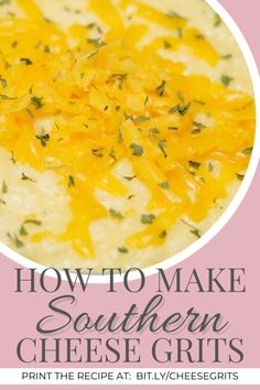 The Best Southern Cheese Grits Recipe | The Domestic Diva Breakfast Items, Breakfast Dishes, Breakfast Recipes, Southern Grits, How To Cook Grits, Sweet Tea Recipes, Cheesy Grits, Stove Top Recipes