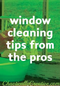 Make your windows sparkly clean with tips from the pros. | easy cleaning tips  | fall cleaning