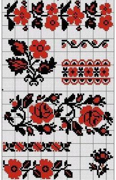 Mini Cross Stitch, Cross Stitch Borders, Cross Stitch Flowers, Cross Stitch Designs, Cross Stitching, Cross Stitch Embroidery, Embroidery Patterns, Hand Embroidery, Cross Stitch Patterns