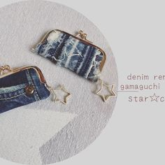 デニムリメイク☆がまぐちポーチ ★記録用です★ 印鑑ケース、コインケースとして使用可能ながまぐちポーチです👛 星チャームをつけて…⭐️ 左はデニム前ポケット部分をそのまま使用しています。 ポケット - riiiiihacchi Puppets, Denim Jeans, Diy And Crafts, Coin Purse, Wallet, Bags, Fashion, Wallets, Coin Purses