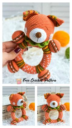 Crochet Fox, Free Crochet, Step By Step Crochet, Cute Fox, Learn To Crochet, Free Pattern, Crochet Patterns, Homemade, Babies