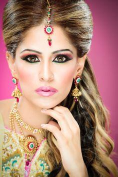 asian bridal makeup portrait