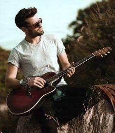 Konstantinos Argiros - Guitar, Hello magazine photoshoot.