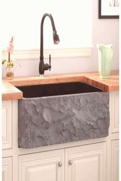 Signature Hardware 228974 Black 30 Single Basin Granite Farmhouse Sink for Undermount Instal Si, #Basin #Black #Farmhouse #granite #Hardware #Instal #Signature #Single #Sink #Undermount Black Farmhouse Sink, Vintage Farmhouse Sink, Stainless Steel Farmhouse Sink, Farmhouse Sink Kitchen, Kitchen Sinks, Farmhouse Ideas, Rustic Kitchen, Bowl Designs, Farm Sink