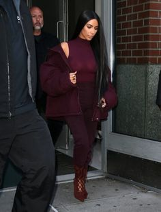 Kim Kardashian Photos Photos - Reality star and busy mom Kim Kardashian rocks and all purple ensemble while out and about in New York City, New York on February 15, 2017. Rumors continue to swirl that Kim's marriage to Kanye West is on the rocks. - Kim Kardashian Out And About In NYC