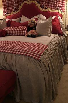 Linen Dust Ruffle Bed Skirt coverlet white bed skirt grey bed | Etsy Ruffle Bedspread, Coverlet Bedding, Ruffle Bed Skirts, Chic Bedding, Grey Bedding, Linen Bedding, Bed Linen, Linen Fabric, White Bed Skirt