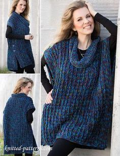 17 easy crochet poncho patterns for women easy knit one piece slippers free knitting pattern + video knitting pattern Poncho Crochet, Crochet Jacket, Crochet Scarves, Crochet Clothes, Easy Crochet, Crochet Vests, Crochet Sweaters, Knitted Shawls, Crochet Woman