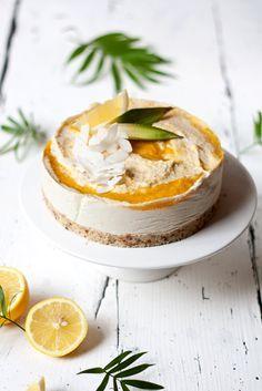 raw coconut mango cheesecake.