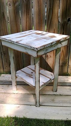 Reclaimed Wood Pallet Nightstand Pallet Wood End Table Nightstand Rustic Night Stand End Table Primitive Side Table Shabby Chic - Pallet Diy Reclaimed Wood Nightstand, Wooden Pallet Furniture, Wood Pallets, Pallet Wood, Outdoor Pallet, Reclaimed Wood Side Table, Pallet Couch, Recycled Furniture, Diy Garden Furniture