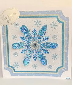 Excited to share this item from my shop: Luxury Handmade Christmas Card, Card, Large Blue Snowflake Card, Personalised Card, Glitter Card Luxury Christmas Cards, Silver Christmas, Handmade Christmas, Christmas Sentiments, Birthday Sentiments, Snowflake Cards, Snowflakes, 21st Birthday, Birthday Cards