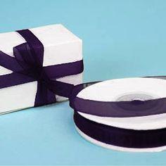 """25 Yard 3/8""""DIY Eggplant Organza Ribbon With Satin Edges For Craft Dress Wedding"""