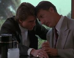 "Raymond: ""Yeah, One for bad, two for good."" Charlie: ""Bet two for good."" (Tom Cruise and Dustin Hoffman in Rain Man)"