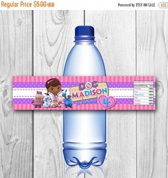 DIGITAL FILE Doc McStuffins Bottle Labels Doc by CuteInvitation1