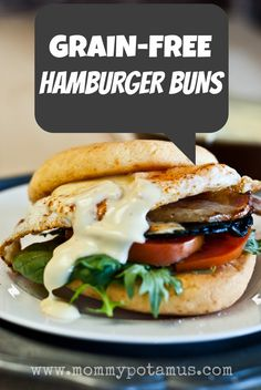Grain-Free Hamburger Buns - try with almond flour or flax meal instead of tapioca flour