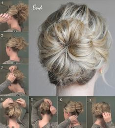 Günlük topuz saç modeli yapımı
