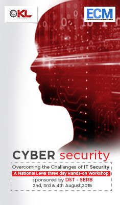 CYBER SECURITY: Department of ECM is organizing a 3-day
