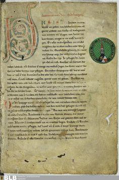 """5 [1r] - Nibelungenlied : """"uns ist in alten maeren wunders vil geseit/ von helden lobebaeren von grozer arebeit/"""" ( about 1180-1210)"""