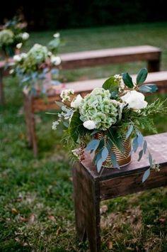 Wedding Ideas By Colour: Bronze Wedding Theme - Ceremony style Wedding Bench, Wedding Ceremony, Ceremony Seating, Church Wedding, Outdoor Ceremony, Wedding Venues, Floral Wedding, Wedding Colors, Wedding Flowers