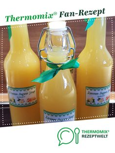 Ginger lemon honey syrup (with preservation of vitamins), good for colds or for prevention! by Petra Feinschmecker. A Thermomix ® recipe from the drinks category www.de, the Thermomix ® community. Lemon Syrup, Honey Syrup, Honey Lemon, Detox Recipes, Smoothie Recipes, White Cranberry Juice, Easy Detox, Detox Drinks, Coffee Bottle