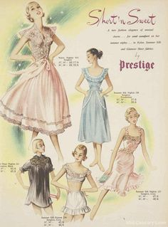Sweet and sexy nightwear for 1952