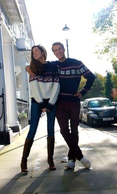 this cute sweater couple is pretty much life right now haha
