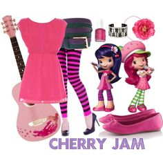 Cherry jam outfit in 2019 Strawberry Shortcake Cartoon, Strawberry Shortcake Birthday, 5th Birthday, Birthday Parties, Fashion Over 40, Cherry Blossom, Minnie Mouse, Birthdays, Disney Characters